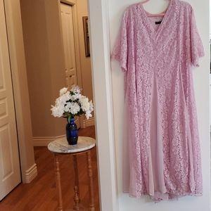 Masonell Pink Lace Maxi Dress sz 1X